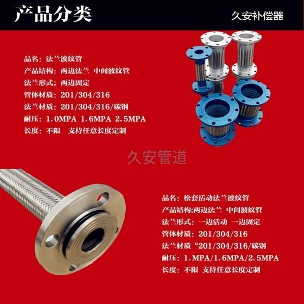 波纹金属软管分类